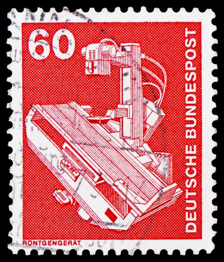 Dispositif de rayon X, industrie et serie 1975-1982 de Definitives de technologie, vers 1978 image libre de droits