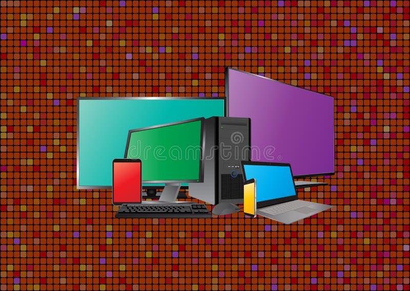 Dispositif de technologie illustration stock