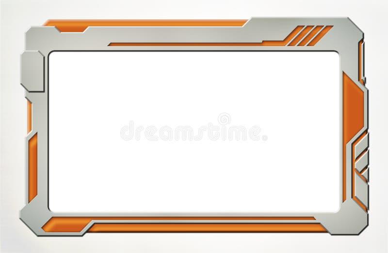 Dispositif futuriste de Tablette de plastique et de néon illustration de vecteur