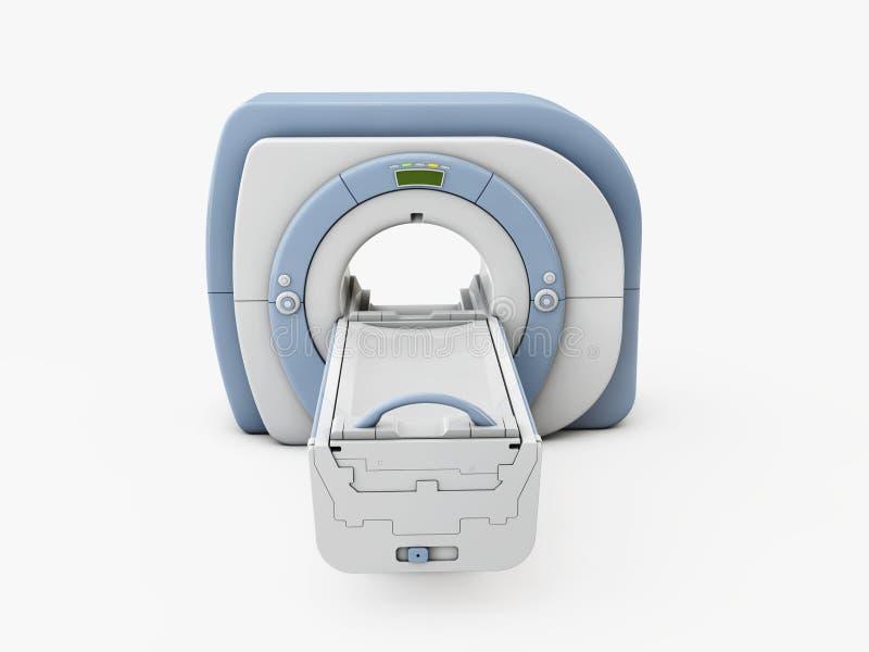 Dispositif imageur de r?sonance magn?tique Illustration d'isolement du scanner 3d d'IRM illustration de vecteur