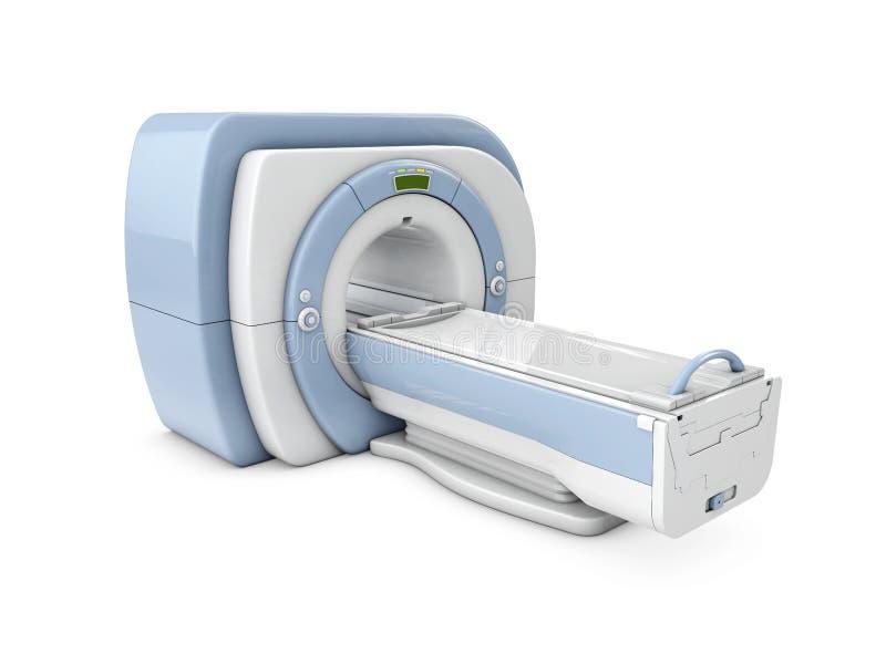 Dispositif imageur de r?sonance magn?tique Illustration d'isolement du scanner 3d d'IRM illustration libre de droits