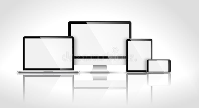 Dispositif moderne avec la réflexion illustration libre de droits