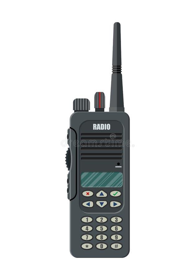 Dispositif par radio tenu dans la main portatif moderne illustration libre de droits