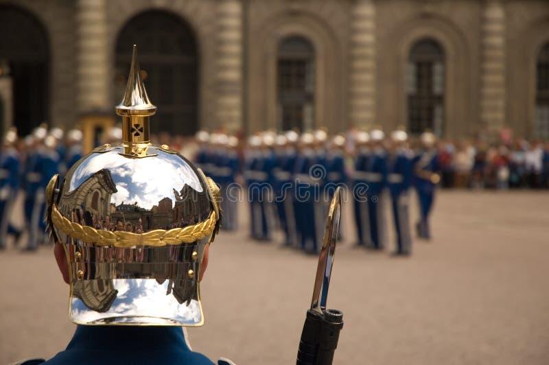 Dispositif protecteur de palais royal Suède photo libre de droits