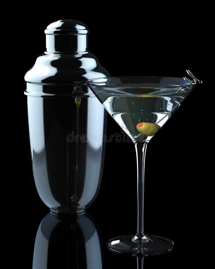dispositif trembleur de martini images stock
