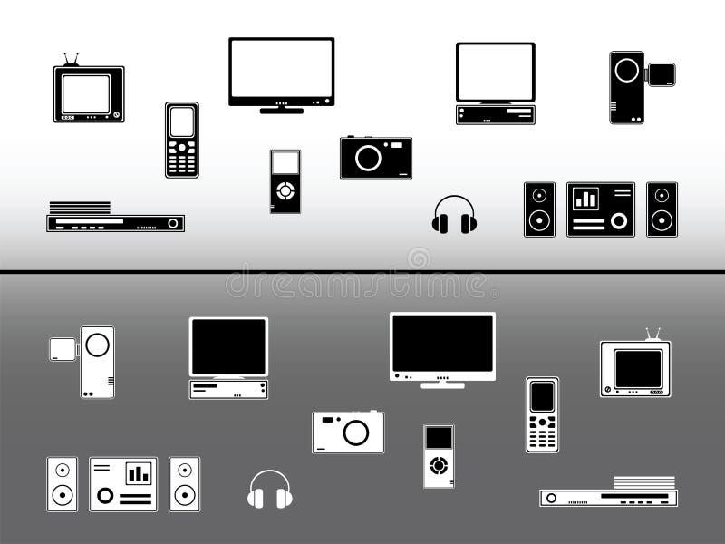 dispositifs électroniques illustration libre de droits