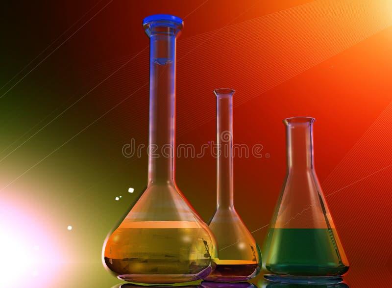 Dispositifs chimiques illustration stock