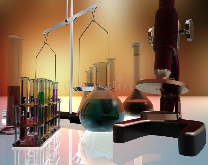 Dispositifs chimiques illustration libre de droits