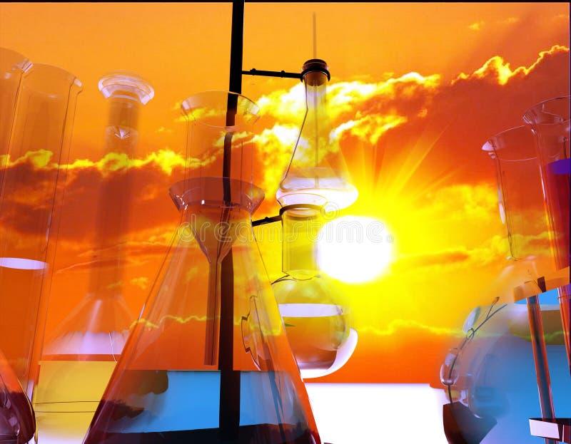 Dispositifs chimiques illustration de vecteur