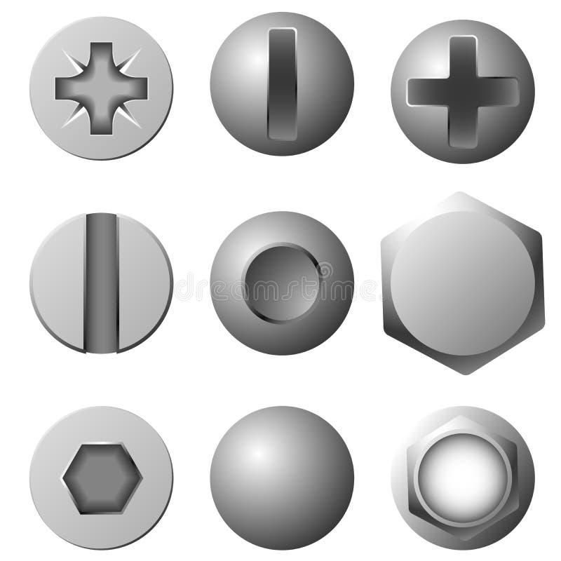 Dispositifs de fixation illustration de vecteur