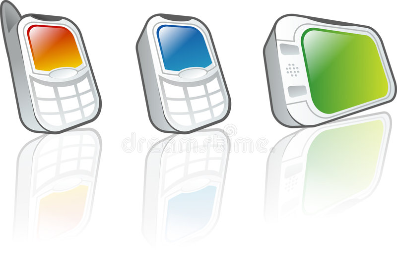 Dispositifs mobiles image stock