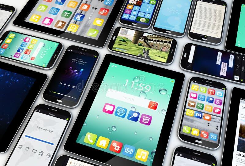 Dispositifs mobiles illustration libre de droits
