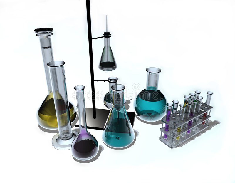 Dispositifs scientifiques illustration stock