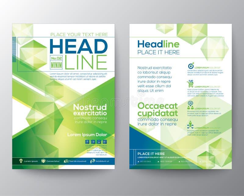 Disposition abstraite de calibre de vecteur de conception de polygone pour l'insecte de brochure de magazine illustration de vecteur