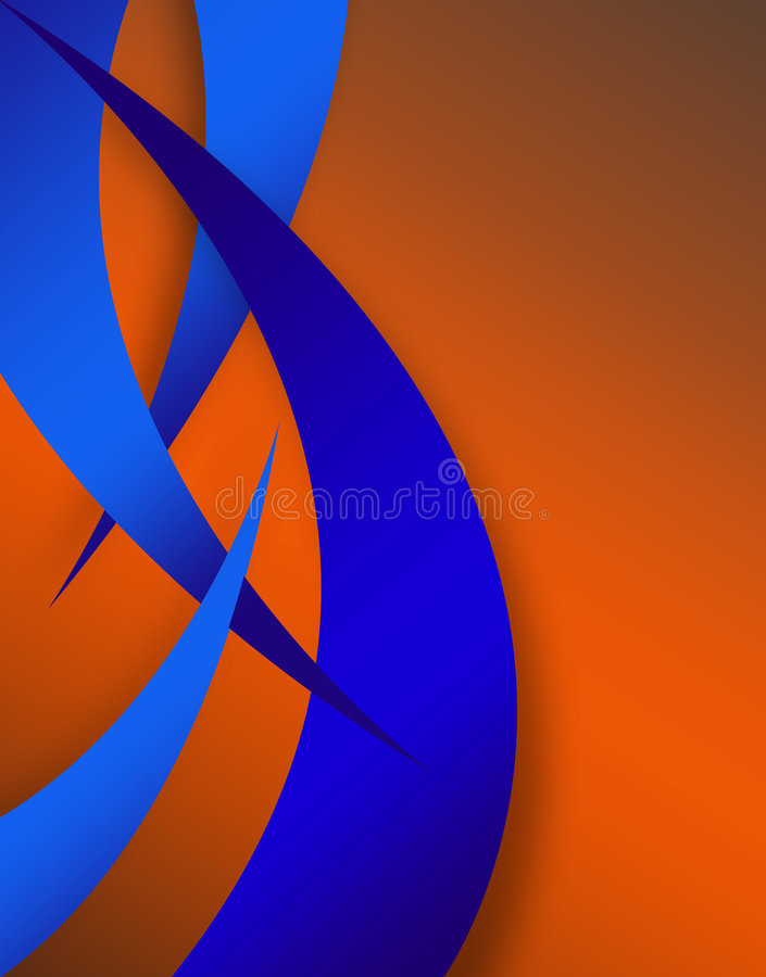 Disposition abstraite de Swoosh illustration stock