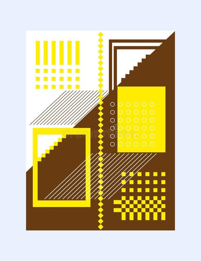 Disposition abstraite des formes géométriques de couverture de brochure pour la présentation ou de publication des concepts créat illustration libre de droits