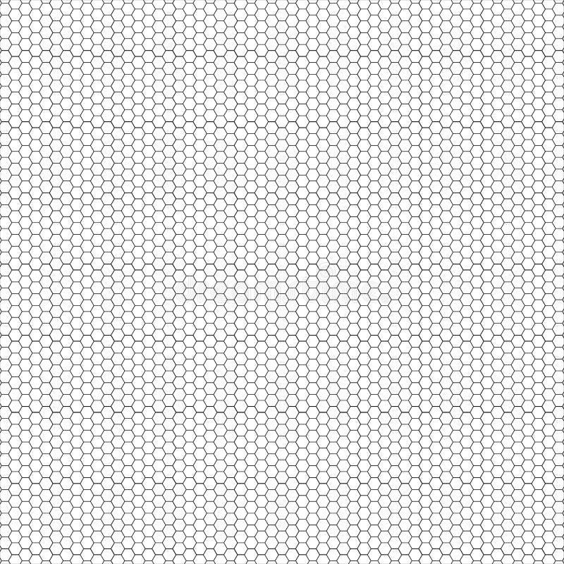 Disposition avec le vecteur hexagonal de formes Vecteur sans couture hexagonal de modèle illustration libre de droits