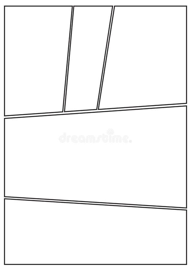 Disposition b irrégulier de story-board de Manga illustration libre de droits