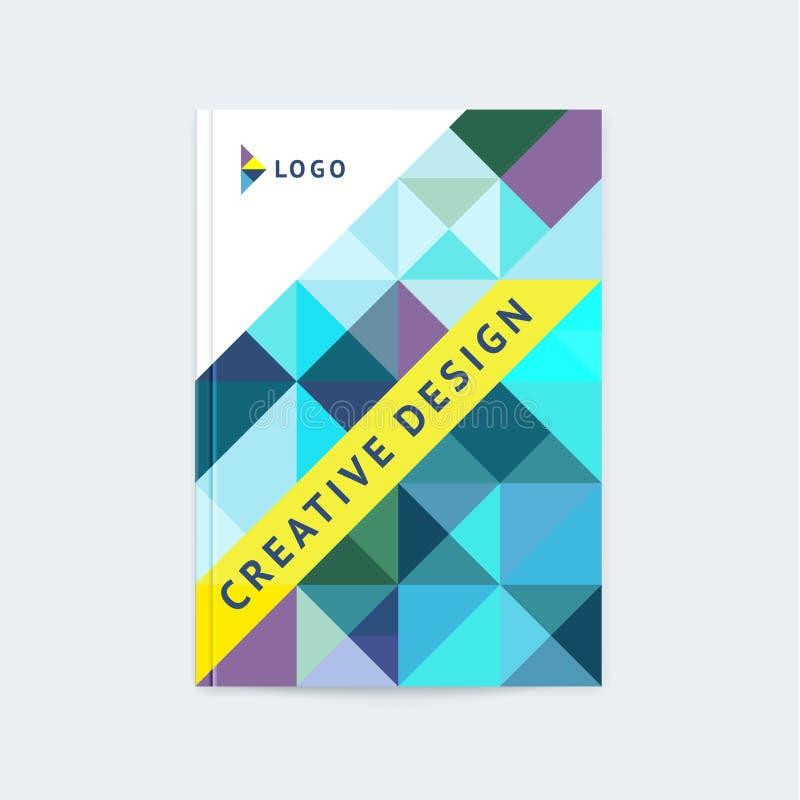 Disposition de calibre de brochure, conception de couverture illustration libre de droits