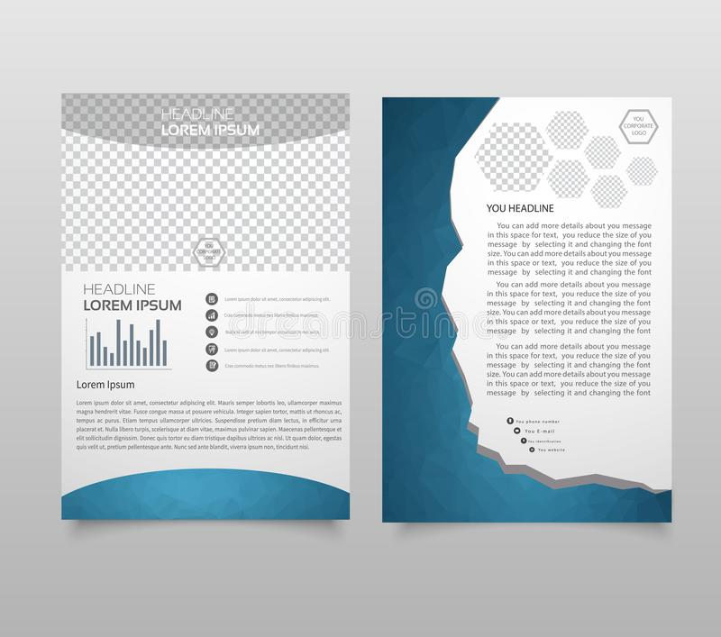 Disposition de calibre de brochure, rapport annuel de conception de couverture, magazine, insecte, livret de tract dans A4 avec l illustration stock