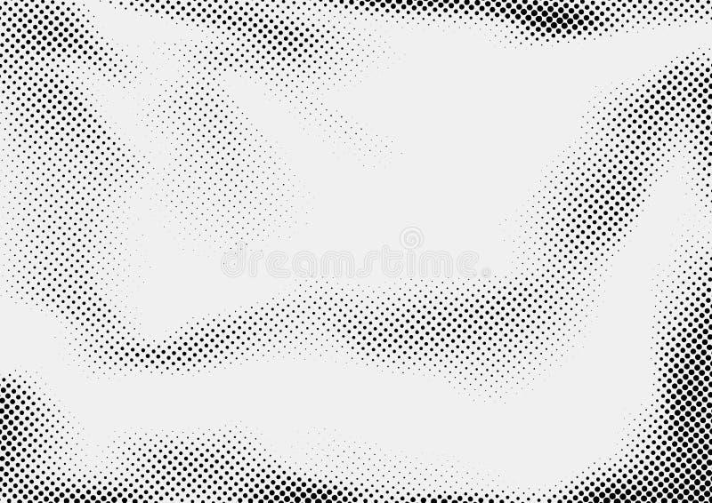 Disposition de conception abstraite pointillée grise et noire tramée illustration de vecteur