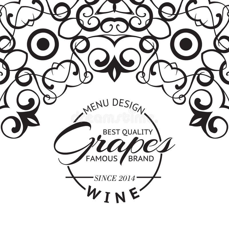 Disposition de conception de carte des vins. illustration de vecteur