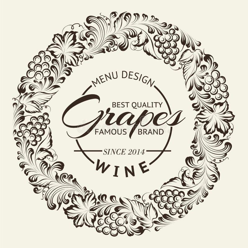 Disposition de conception de carte des vins sur le tableau. Vecteur illustration stock