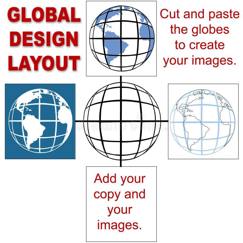Disposition de conception globale illustration stock