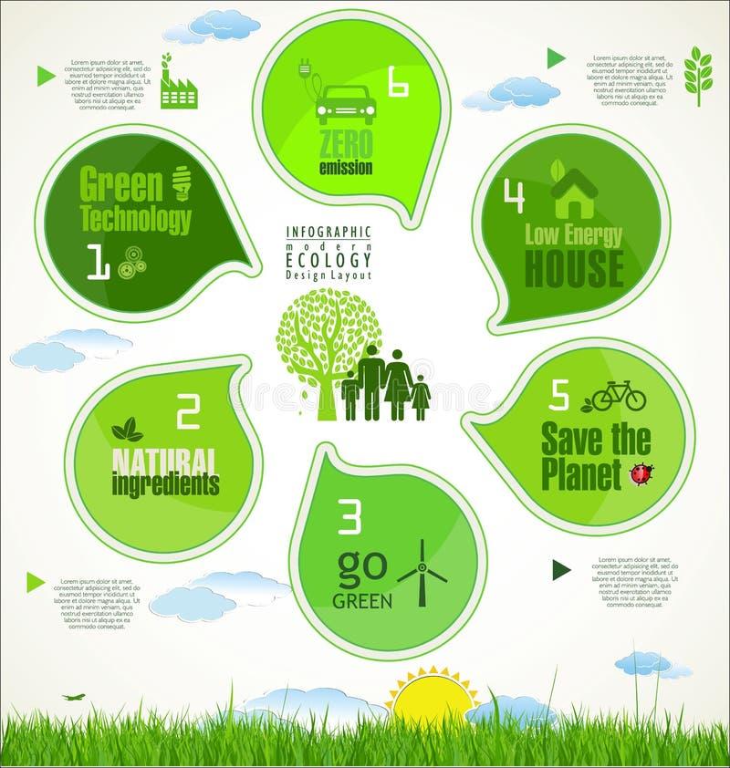 Disposition de conception infographic moderne illustration stock