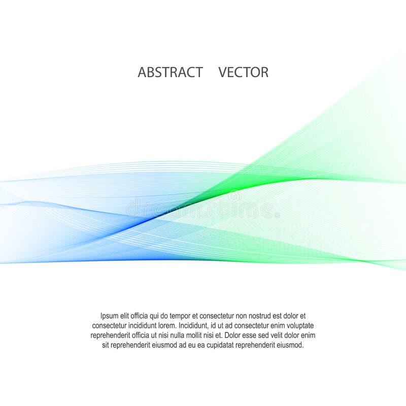 Disposition de frontière de vague de bruissement d'abrégé sur lumière molle de Minimalistic illustration stock