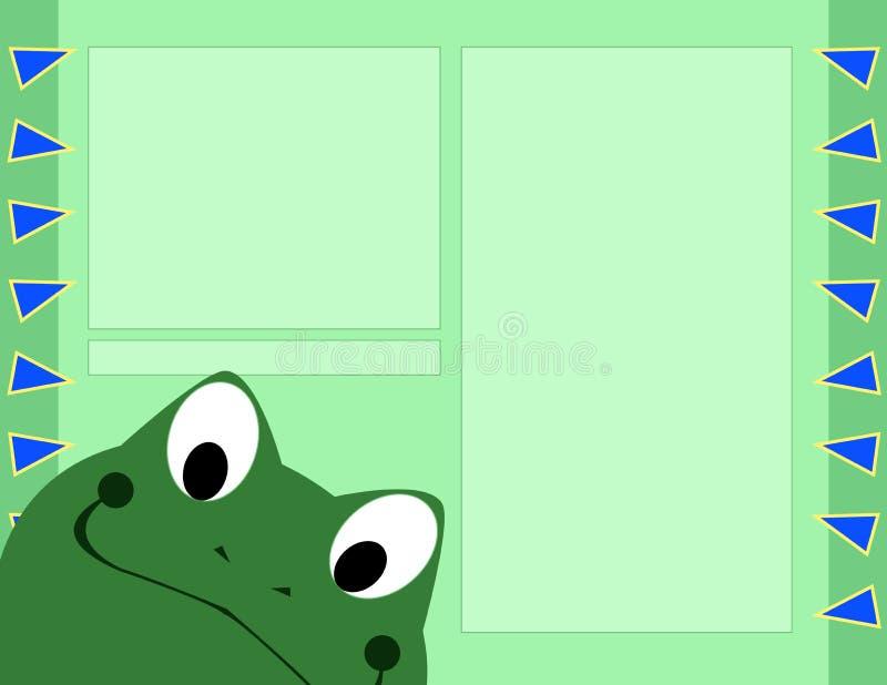 Disposition de page d'album - grenouille photo stock
