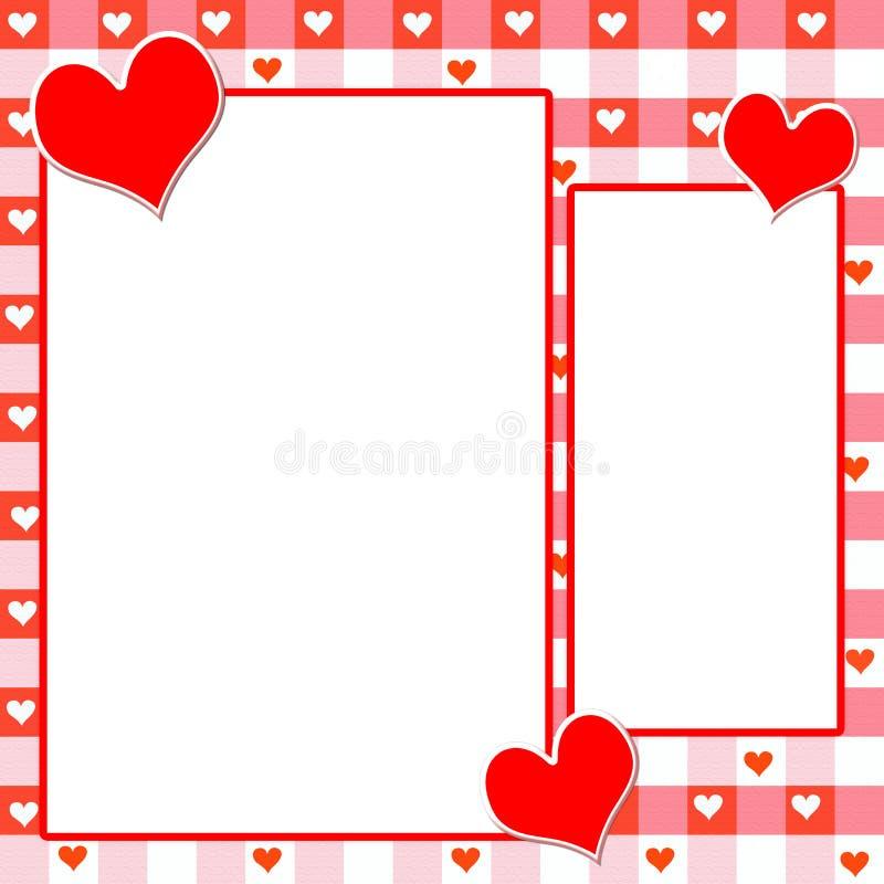 Disposition de page de coeur illustration libre de droits