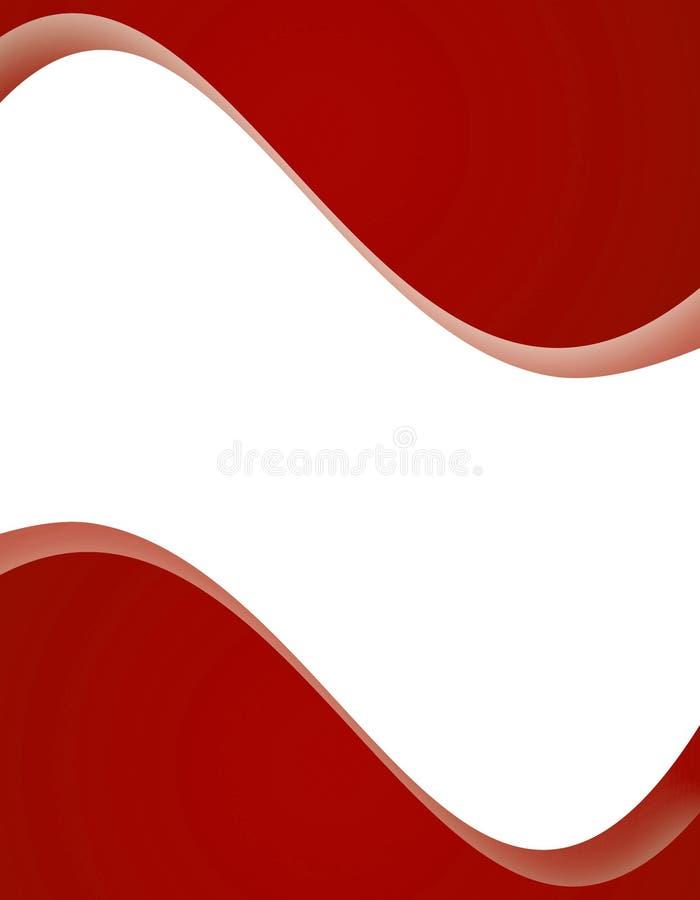 Disposition de page rouge illustration de vecteur
