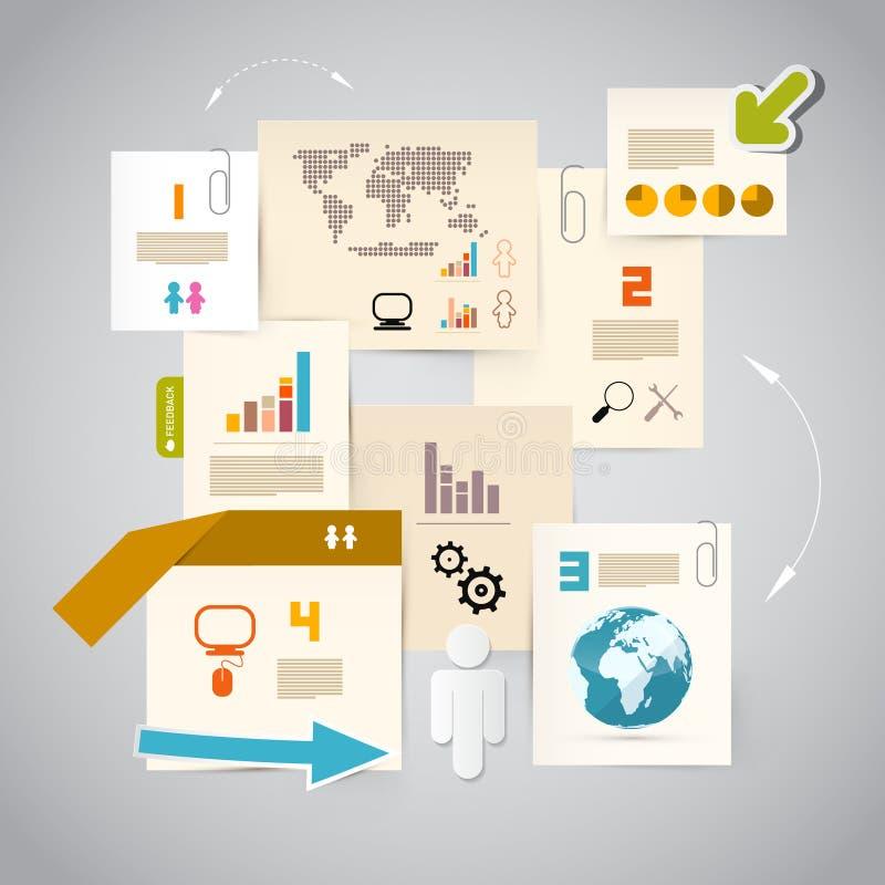 Disposition de papier d'Infographics illustration de vecteur