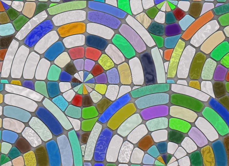 Disposition de pavé rond multicolore backgrou naturel de pierres illustration stock