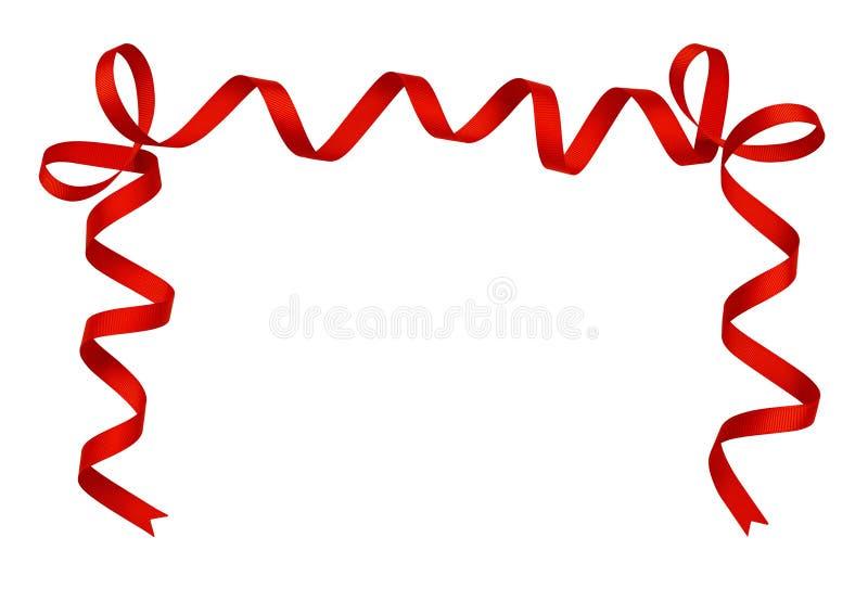 Disposition de ruban en soie rouge photographie stock
