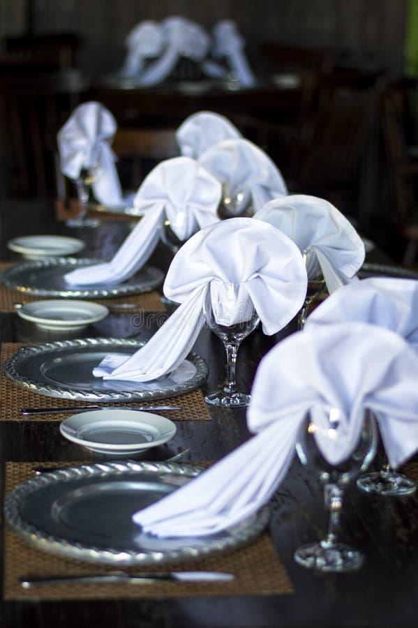 Disposition de table de mariage photographie stock