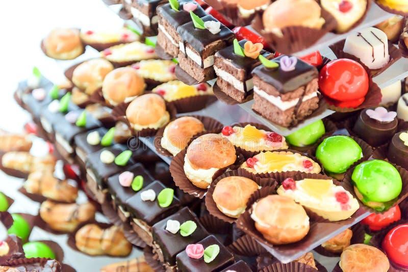Disposition de table de gâteau photo libre de droits