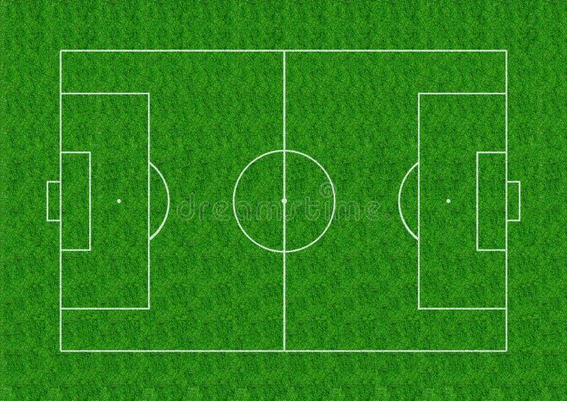 Disposition de terrain de football sur le fond d'herbe verte photographie stock