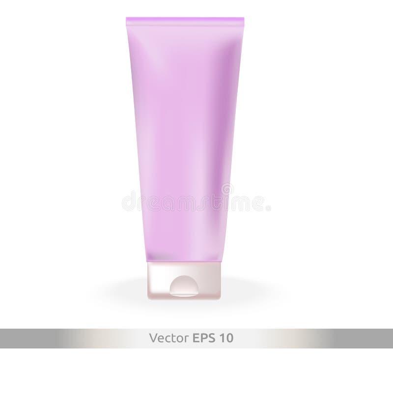 Disposition de vecteur - tube en plastique pour la crème de main Cosmétique de main - emballage illustration libre de droits