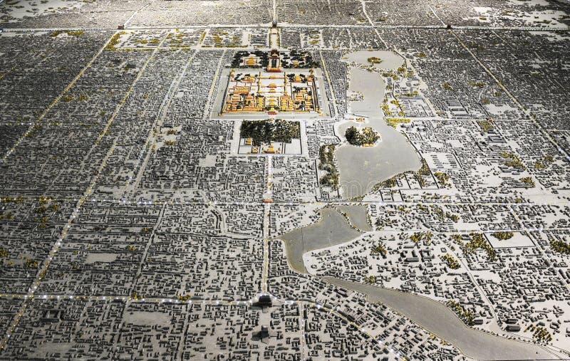 Disposition de ville de Pékin photo stock