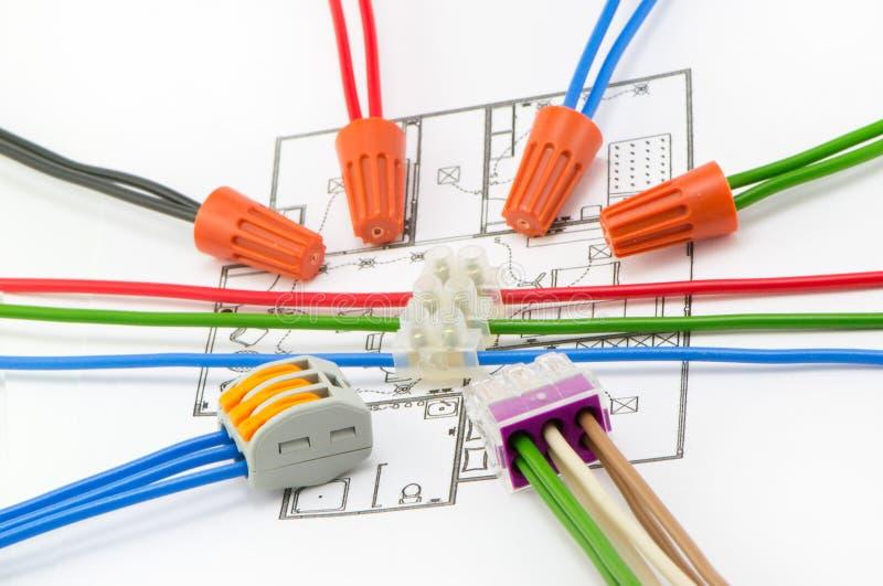 Disposition du câblage photo libre de droits
