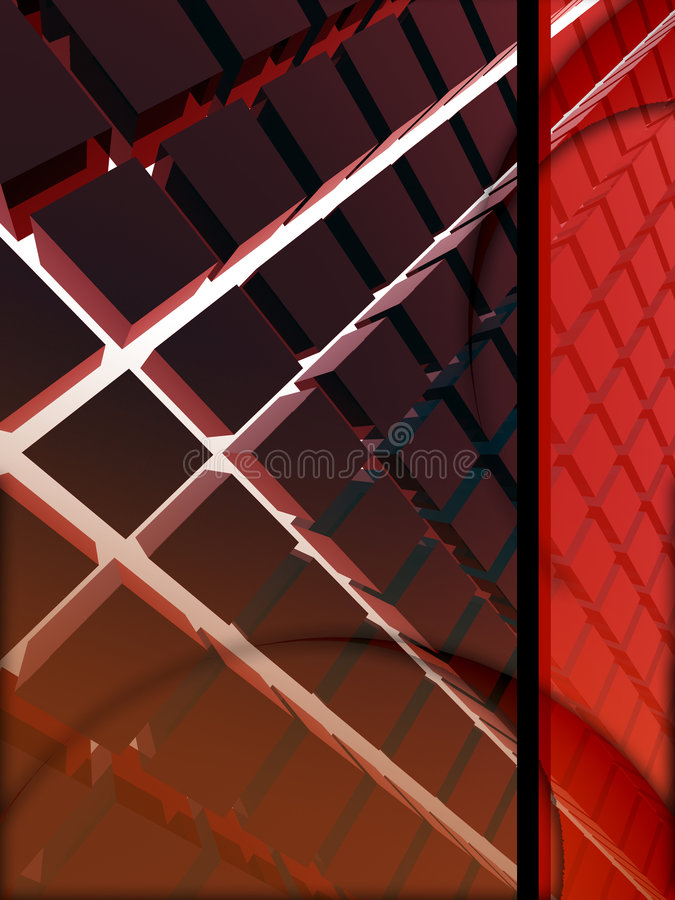 disposition du rouge 3d illustration stock