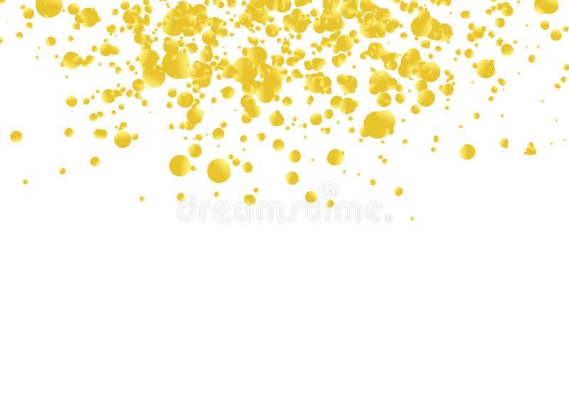 Disposition en baisse de beaux confettis réalistes d'or lumineux illustration libre de droits