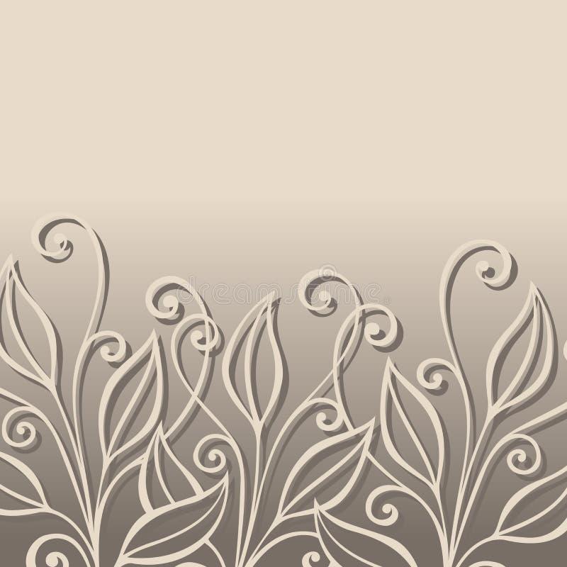 Disposition florale colorée par vecteur avec des feuilles illustration stock