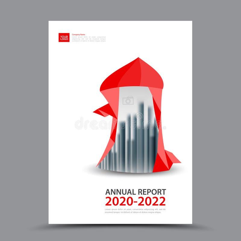 Disposition rouge de calibre de brochure, rapport annuel de conception de couverture, magazine, insecte ou livret dans A4 illustration libre de droits