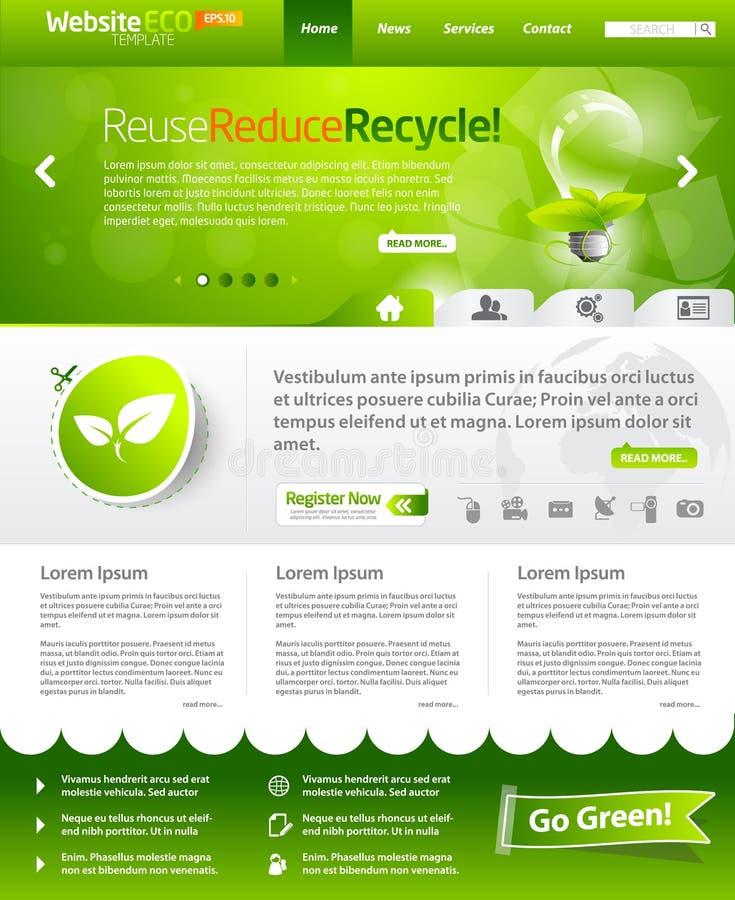 Disposition verte de descripteur de Web d'écologie illustration libre de droits