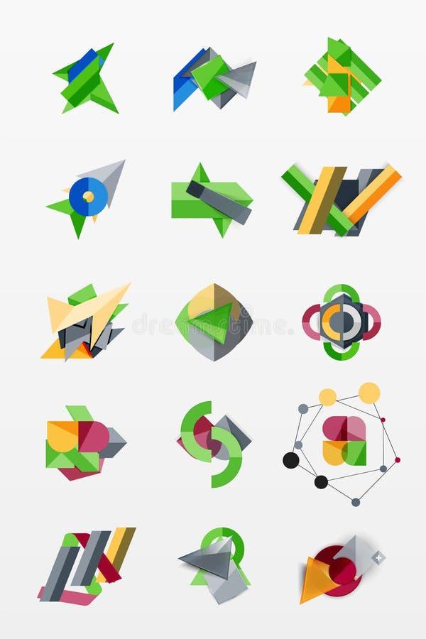 Dispositions infographic de Web de graphiques de papier illustration stock