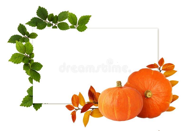 Dispositions vertes et oranges d'automne et d'été et une carte photographie stock
