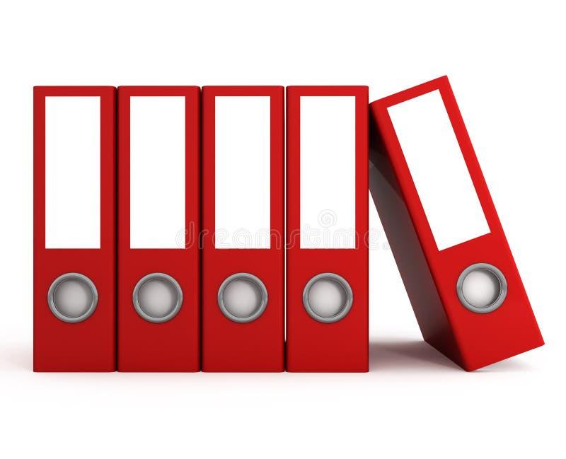 Dispositivi di piegatura di archivi rossi illustrazione di stock